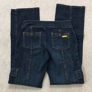 Gasoline Jeans straight leg dark wash